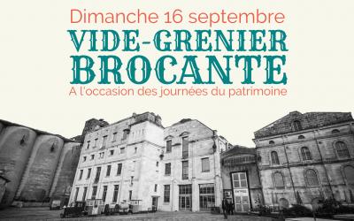 Brocante – Vide Grenier – 16 septembre 2018