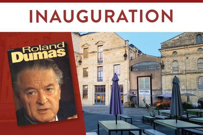 Inauguration Roland Dumas + Village du Livre